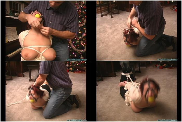 FS JJ hogtied and ball gagged