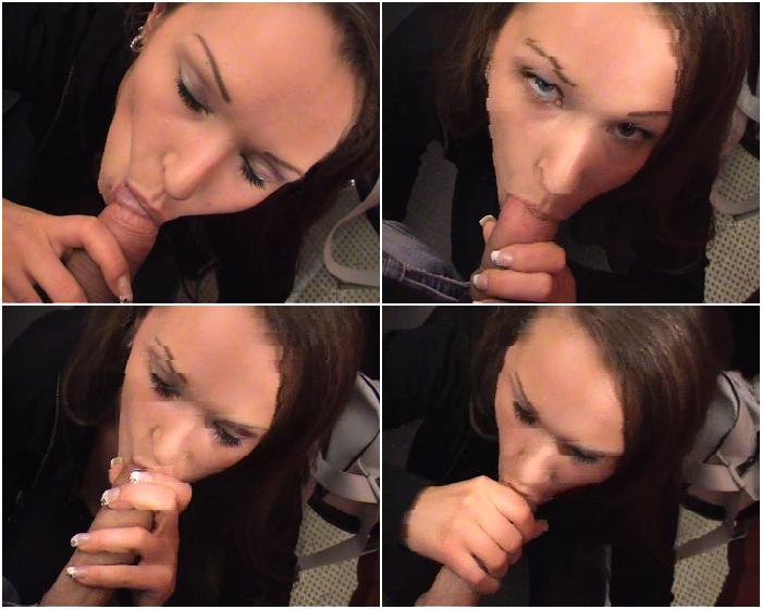 Homemade blowjob awesome brunette babe