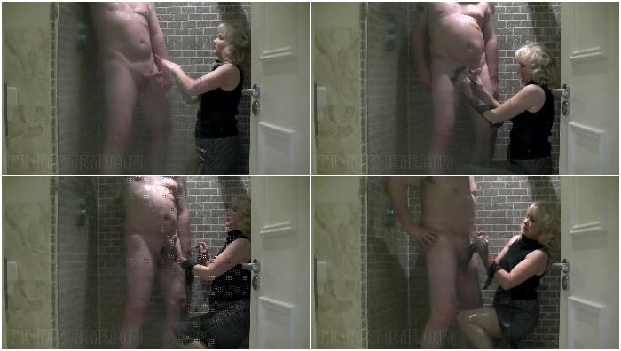 Shower Cumshot On Clothes
