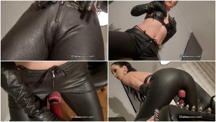 Pants mature women leather