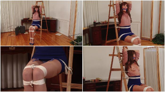 Redhead Secretary Bound and Gagged - Bianca Breeze