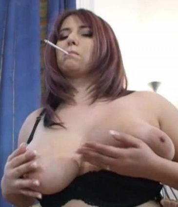 Big Boob Smoker! - Smoking Sex