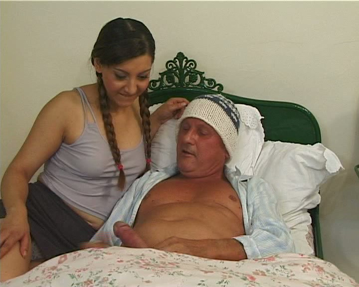 Teeny cures sick man with sex - Old Man and Teen