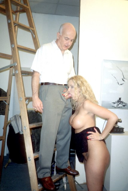 Grandpa fucks busty blonde - Old Man and Teen