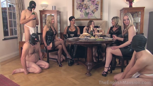 Femdom slave party