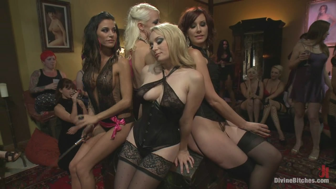 gay gangbang female domination