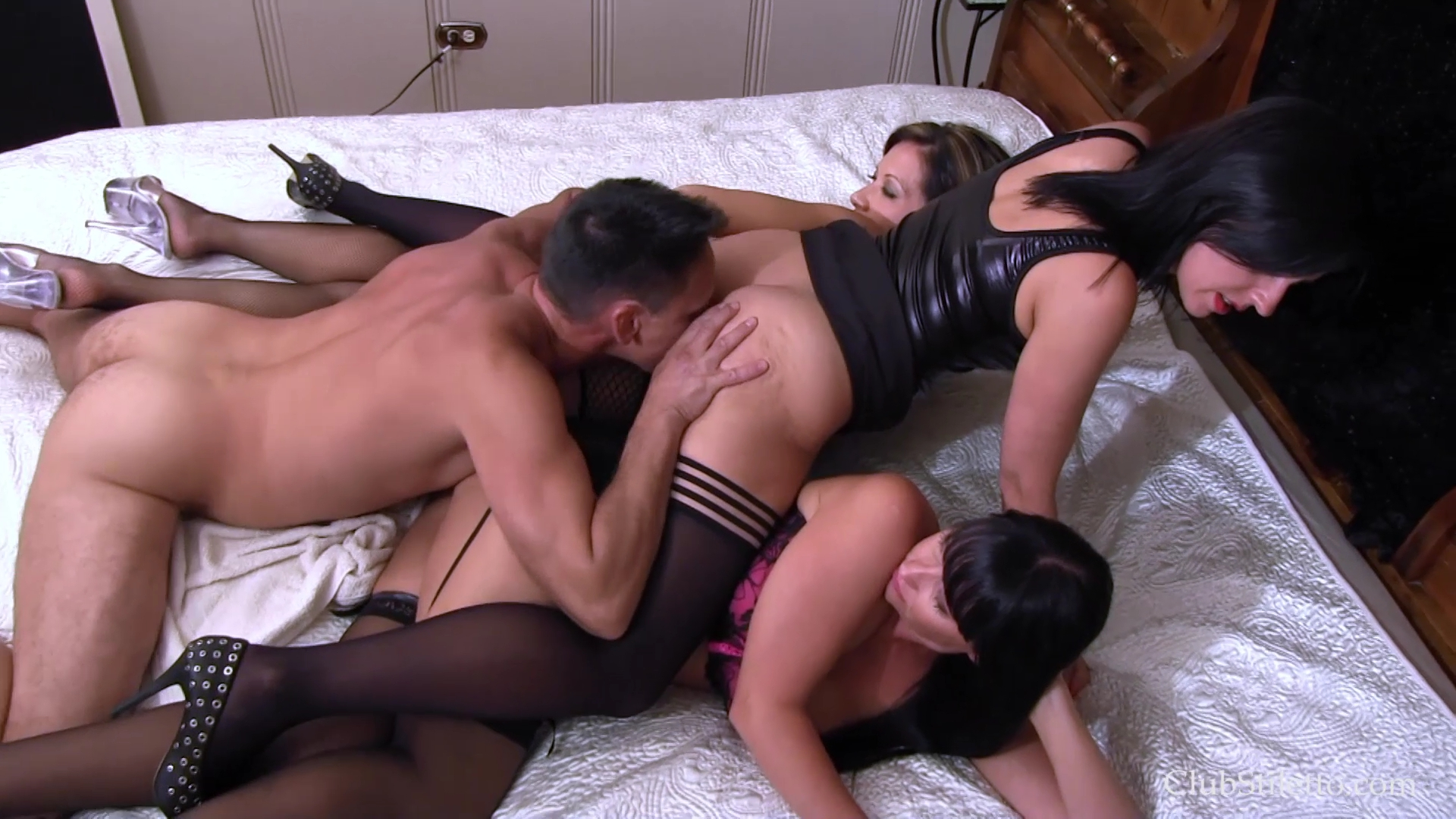 Ass licking group
