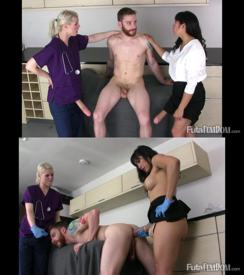 Claire, Polly, Sebastian - Doctor & Nurse Do Their Patient [FullHD 1080p] (FutaFemdom)