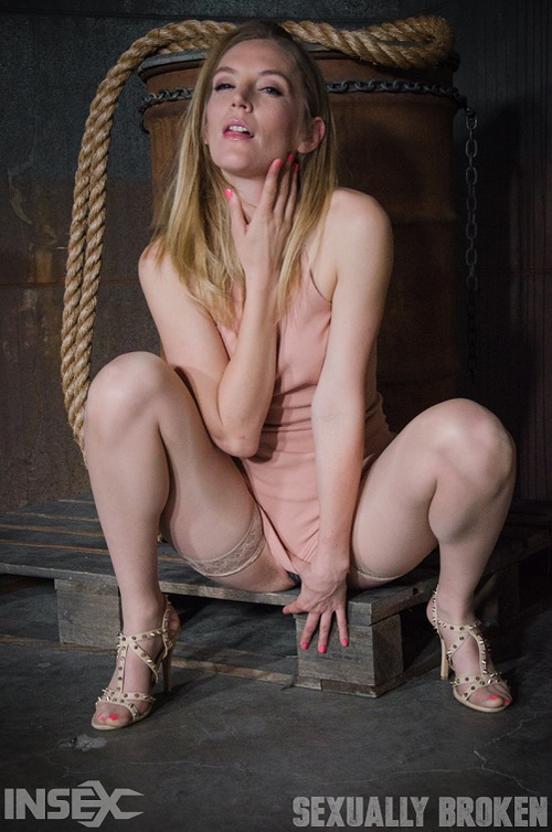 Mona Wales - All natural stunner Mona Wales takes on 3 cocks blindfolded and shackled onto a vibrator! [HD 720p] (SexuallyBroken)