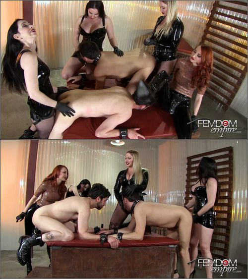 Alexandra Snow, Kendra James, Lexi Sindel, Mina Thorne - Strap-on Gang Bang '16 [FullHD 1080p] (FemdomEmpire)