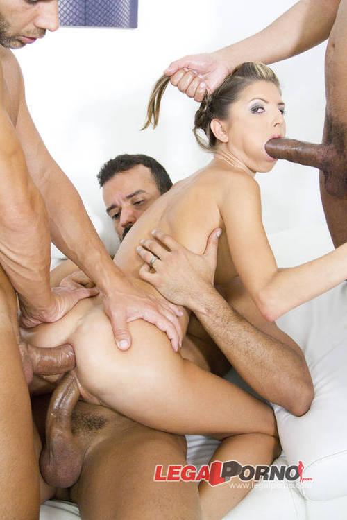 Legalporno.com - Gina Gerson - Petite slut Gina Gerson reamed by 4 massive cocsk & DP'ed SZ966 [HD 720p]