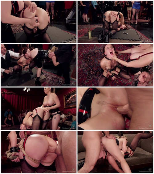 Aiden Starr, John Strong and Audrey Holiday – (Latex Slave Girl Anally Debased By Dick Hungry Governess 5.06.2015)