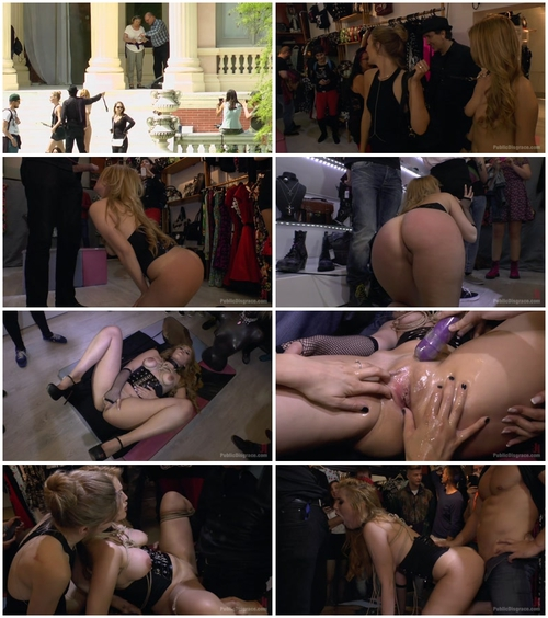 Hanna Montada , Mona Wales and Xavi Tralla (Fully Nude Bondage Slut Services Public Disgrace) BDSM, Public, Humiliation, All Sex