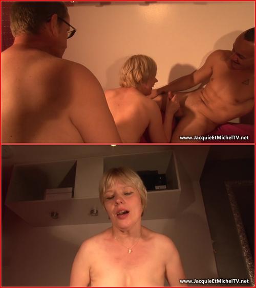 Joye (Il offre sa femme aux jeunes) Amateur, Anal, Big Tits, Blonde, Blowjob, Bukkake, Double Penetration, Facial, Fingering, Gang Bang, Mature