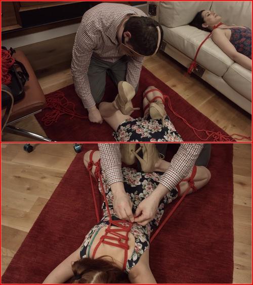 Bonus butt crusher tutorial. Quick ass-up, face-down tie with Penny Pax 2015 BDSM, Bondage
