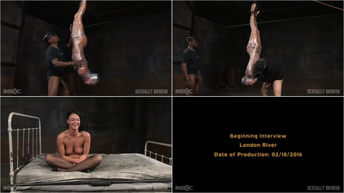 Tough London River mummified in plastic wrap and facefucked in inverted suspension by BBC 14.03.2016  Big Dick, Black Cock, Black Hair, Blow job, Cock Sucking,