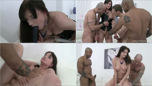 Bree Haze first time in 3on1 airtight DP