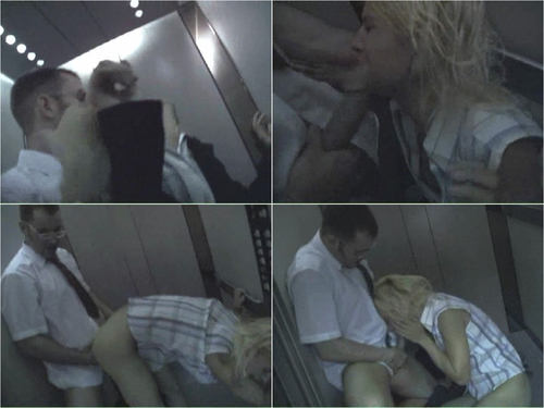 blonde was forced fucked absolutely stranger in an elevator