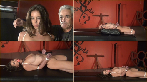 Casey Calvert – Table Top Predicament pain, elbow  bondage, neck rope