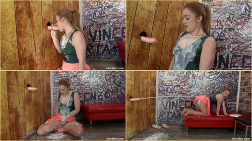 Slimy Wake Up From a Sweet Dream Messy clothes, Cum on clothes, Toy, Solo, Gloryhole, Redhead