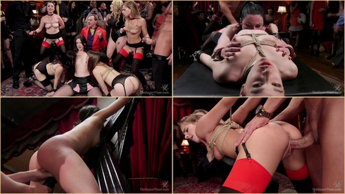 Aiden Starr, Veruca James, Sydney Cole, Nora Riley And Bobbi Dylan The Steward's Birthday Slave Orgy