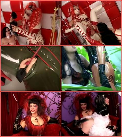 Latex lesbian domination 01