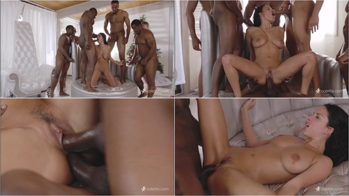 Anissa Kate – Anissa Gets Her Interracial Christmas Gang Bang Wish