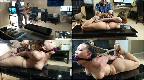 Hogtied in Pantyhose and LOVING it Part 1 – Throat Roped Too Tight