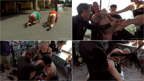 Steve Holmes , Mona Wales , Conny Dachs , Mad Kate and Jolyne Joy (Two Berlin Freaks Get an Intense Public Shaming and Fucking 04.03.2016)