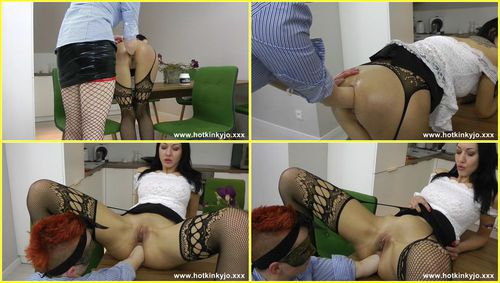 Secretary deep fisting and belly bulge with Lady Kestle