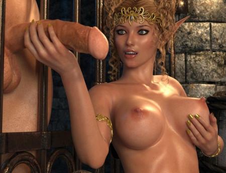 Эльфийка порно фото