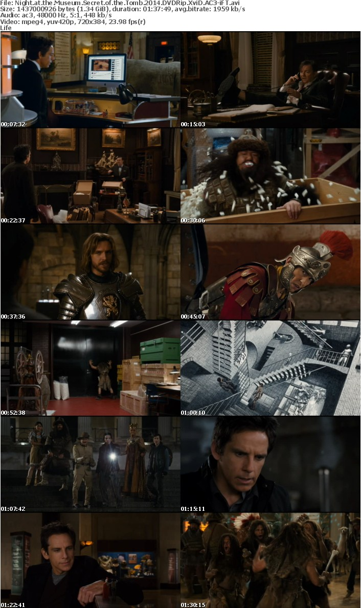 Night at the Museum Secret of the Tomb 2014 DVDRip XviD AC3-iFT