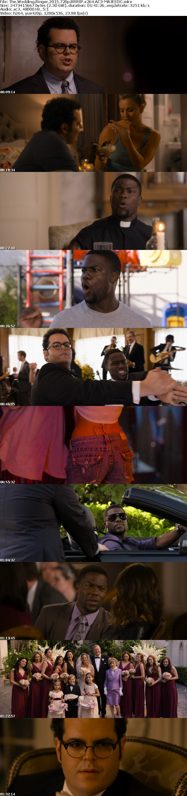 The Wedding Ringer 2015 720p BRRIP x264 AC3-MAJESTiC