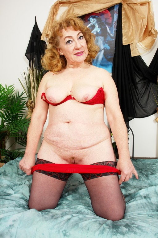 Jitka is a spicy red-headed granny - Mature, MILFs