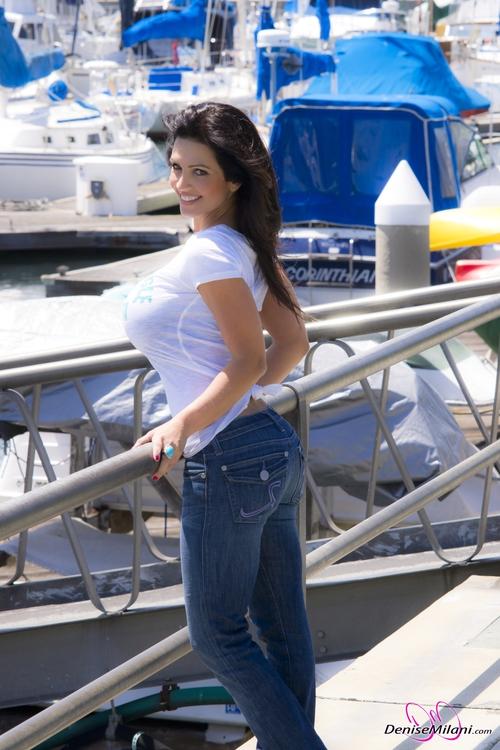 shirt Denise milani white