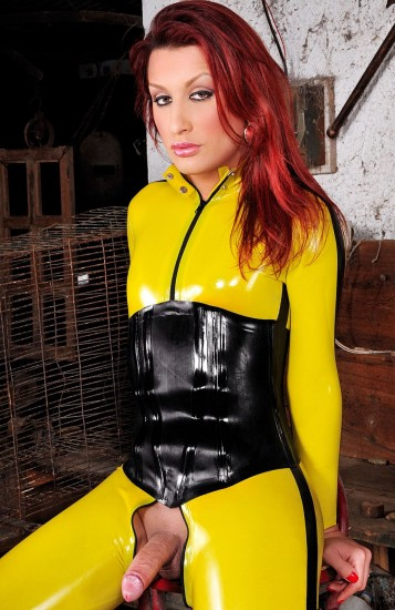 Super Latex Heroine Joy Spears - TS Joy Spears