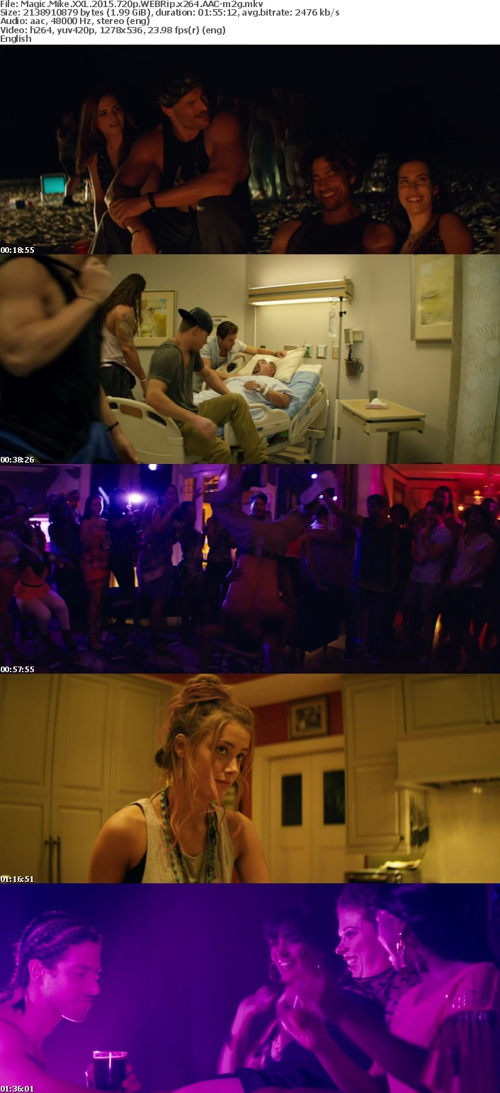 Magic Mike XXL 2015 720p WEBRip x264 AAC-m2g