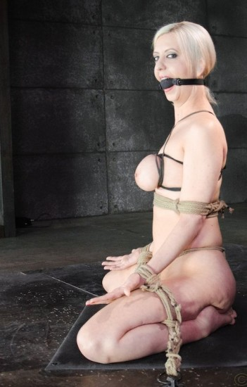 Tightly tied big breasted blonde Cherry Torn