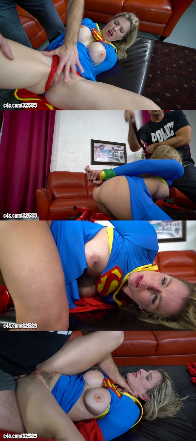 Superheroine forced to give oral sex