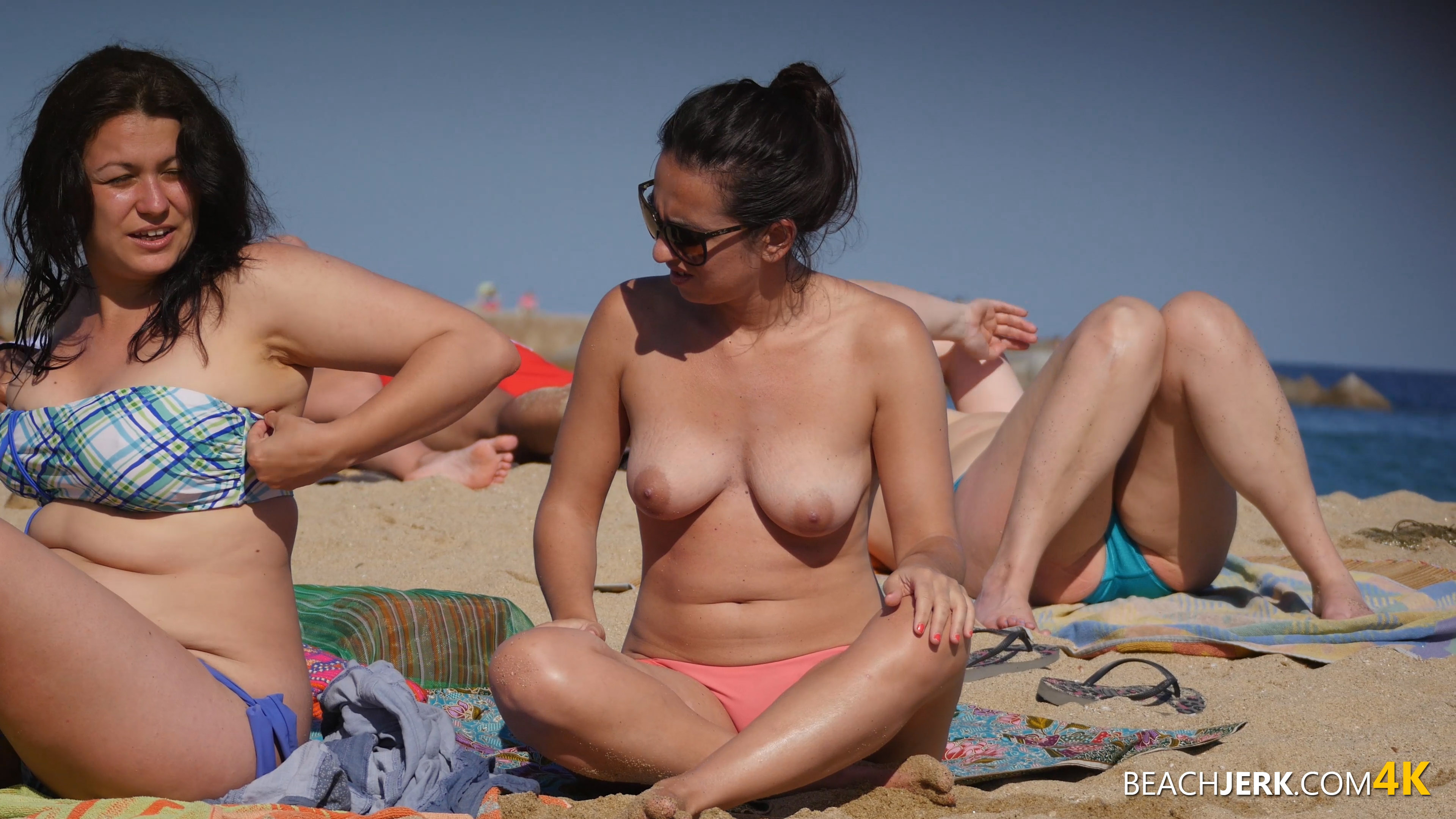 hot naked spanish girl on beach