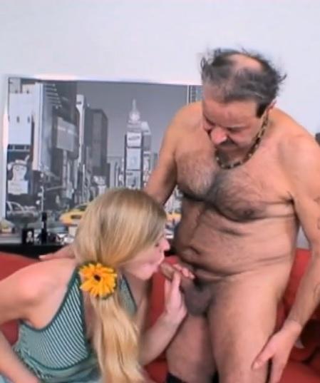 Fantastic babe gets banged by older perv