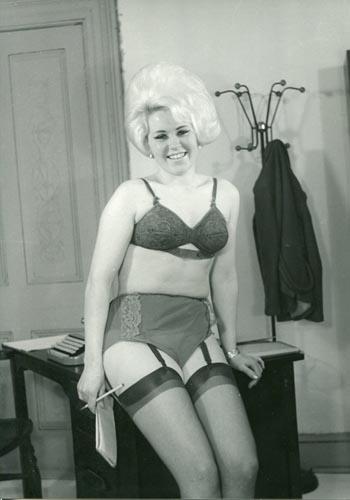 image Upskirt mini skirt in london street
