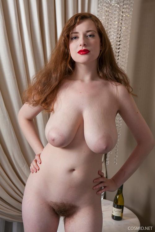 Beautiful big tits bbw redhead looks great lying back and 5