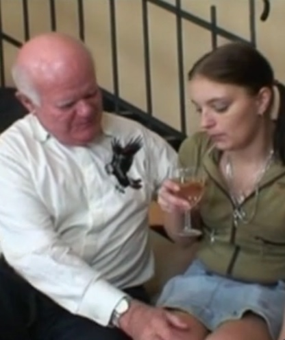 Hot babe gets fucked by older dude
