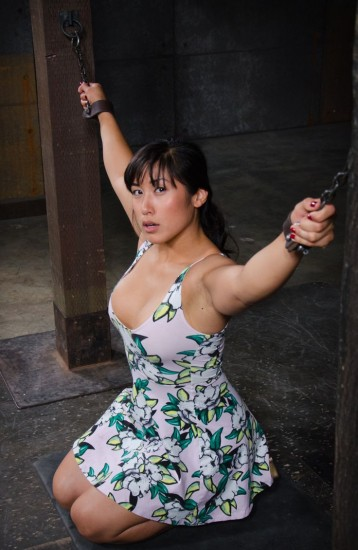 Big breasted Mia Li bent over
