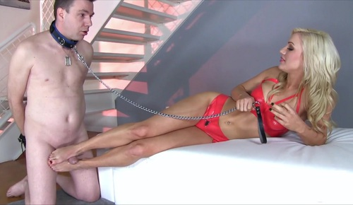 Slave begs for bare feet foot fetish foot domination 5
