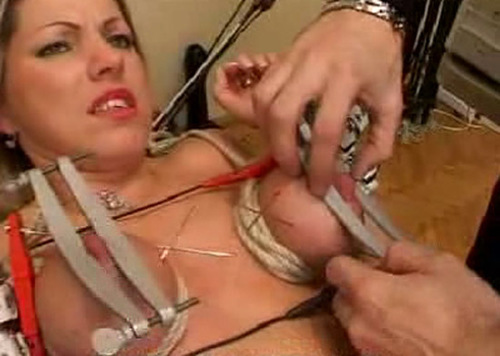 Kinkycore extreme tits punishment 10
