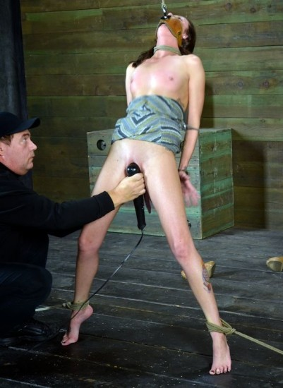 Sexy part time fashion model is bound