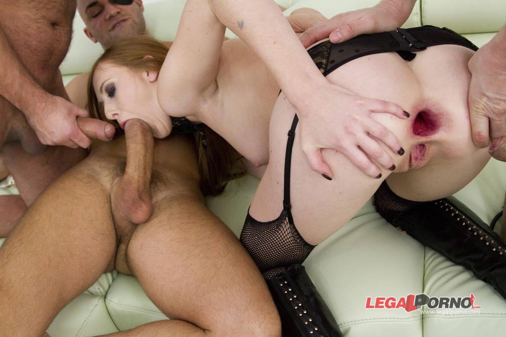 [LegalPorno] [Gonzo] Halloween treat! Linda Sweet triple anal (TAP) with 4 guys SZ715