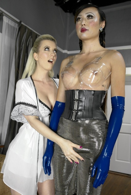 Dominated by a Sex Doll with Tits and Cock